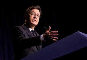 NEW YORK, NY - OCTOBER 09: Stephen Colbert attends the 2014 Storycorps Gala Hosted By Stephen Colbert at Intrepid Sea-Air-Space Museum on October 9, 2014 in New York City. (Photo by Noam Galai/WireImage)